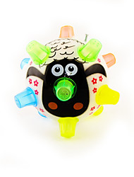 Play Music Dance Light-up Ball with Colorful Elastic Feet Cartoon Bird(Powered by 4 AA)