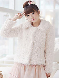 Long Sleeve Turndown Collar Faux Fur Casual/Party Jacket (More Colors)