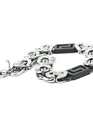 Eruner®Unique Titanium Steel Twisted Pattern Black Hand-Made Bracelet
