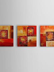 Peint à la main AbstraitStyle Trois Panneaux Toile Peinture à l'huile Hang-peint For Décoration d'intérieur