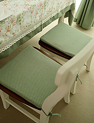 Green Poly / Cotton Blend Rectangular Chair Pads