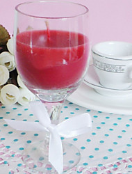 Nice Wine Glass Design Candle Favor In Gift Box