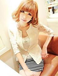 Women's Lace Embroidery Single Button Blazer