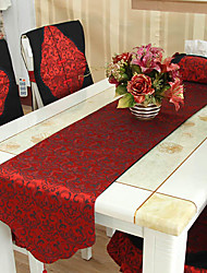 Chinese Style Red Polyester Table Runner