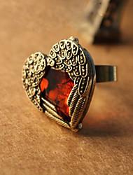 Fashion Heart Shaped-Legierung mit Acryl-Ring