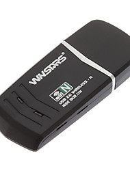 150Mbps Wireless N Adaptador USB 1T1R Compatible de Windows / Mac (con función WPS)