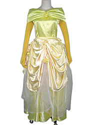 Gorgerous Yellow Satin Ball Gown Women's Costume