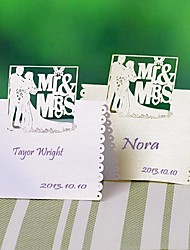 "Place Cards and Holders ""Mr & Mrs"" Place Card - Set of 12 (More Colors)"