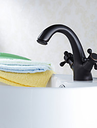 Bathroom Sink Faucets Traditional Brass Oil-rubbed Bronze
