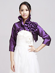 Wedding  Wraps Coats/Jackets 3/4-Length Sleeve Taffeta Jade Wedding / Party/Evening / Office & Career / Casual Beading Clasp No