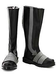 Командующий офицер Черный PU кожаные плоские мужские ботинки