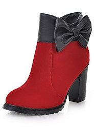 Chic Suede Chunky Heel Ankle Boots With Bowknot Party / Evening Shoes (More Colors)