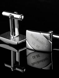 groomsman presente personalizado abotoaduras clássicas oblongo