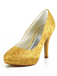 Women's Wedding Shoes Heels/Platform Heels Wedding Yellow