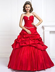 Prom / Formal Evening / Quinceanera / Sweet 16 Dress - Ruby Plus Sizes / Petite Ball Gown Sweetheart Floor-length Taffeta