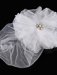 Bridal Tulle Fascinators with Imitation Pearl and Rhinestone Wedding/Special Occasion Headpieces