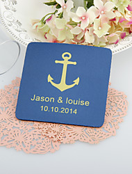 Personalized  Anchor Wedding Coasters-Set of 4(More Colors)
