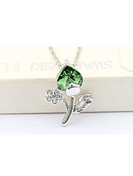 madou Prinzessin grünes Blatt kurze Halskette