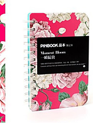Spring Coming Floral Winding Notebook