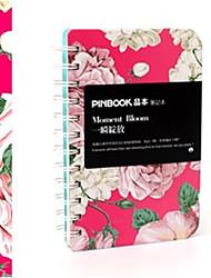 Primavera Vindo Floral Notebook enrolamento