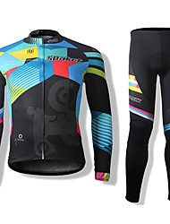 SPAKCT® Cycling Jersey with Tights Unisex Long Sleeve BikeBreathable / Thermal / Warm / Quick Dry / Windproof / Front Zipper / Dust Proof