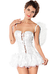 Sweet charmingirl Angel White Dress Halloween Costume(1Piece)
