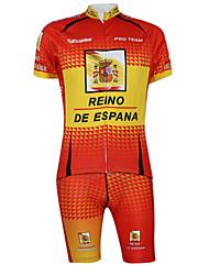 Kooplus2013 Campeonato Jersey Espanha poliéster e Lycra e tecido elástico Ciclismo Suits (T-shirt + calça)