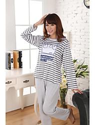 Stripes Little Bear Pattern Lounge Wear