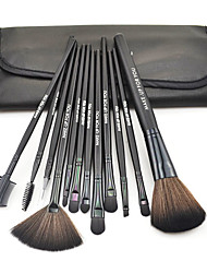 Make-up For You®12pcs Makeup Brushes set Portable/Limits bacteria Black Blush brush Shadow/Eyeliner/Brow/Lashes Brush High grade Makeup Kit