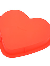Sweet Heart Shaped Silicone Cake Pizza Mould (Random Color)