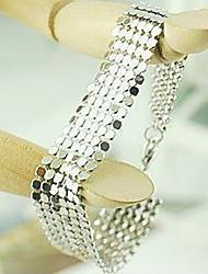 Pulsera de moda reluciente plata de la aleación de las mujeres plateadas