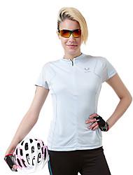 Polyester Fibre stand col de ACANU Femmes équitation T-shirts (Bleu clair)
