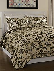 3-teiliges Modern Style Schwarz Jacquard Bettbezug Set