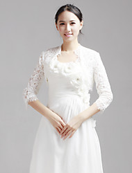 Wedding / Party/Evening Lace Coats/Jackets Half-Sleeve Wedding  Wraps