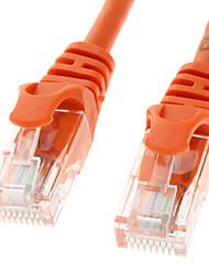 Cat 5e macho a macho para redes de cable Orange (5M)