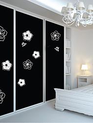 Fleur papillon sticker mural décoratif