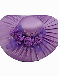 Women's Satin Headpiece-Special Occasion Casual Outdoor Hats