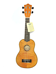 Hanknn - Mahogany Soprano Ukulele with Gig Bag/String/Picks/Strap