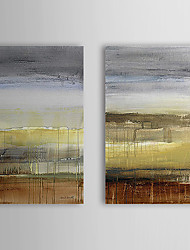 Peint à la main peinture à l'huile abstraite Summer Rain avec cadre étiré Lot de 2 1308-AB0746