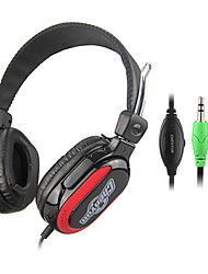 Stereo Hi-Fi 3.5mm On-Ear Headphone with Mic and Remote CY-713 (Black)