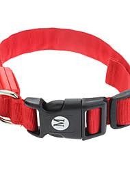 """Verstelbare Pure Color Red Collar met LED verlichting voor Huisdieren Honden (verschillende maten, 40-48cm/15.74-18.89 """")"""