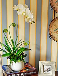 """21 """"H Artistique orchidée dans un vase en céramique"""