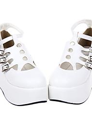 Scorpion ahuecó PU cuña de 8 cm Classic Lolita Shoes