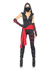 Costumes de Cosplay / Costume de Soirée Ninja Fête / Célébration Déguisement Halloween Rouge / Noir MosaïqueCollant/Combinaison / Casque