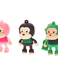 8GB de borracha bonito do macaco USB Flash Drive