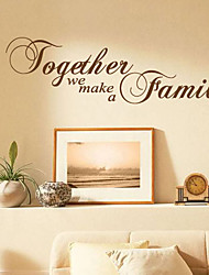 Ensemble, nous formons Wall Sticker famille