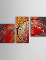 Hand Painted Oil Painting Abstract With Stretched Frame Set of 3 1308-AB0545