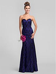 Lanting Trumpet/Mermaid Sweetheart Lace Bridesmaid Dress