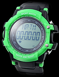Unisex Heart Rate Monitor Bright Color Case Rubber Band Digital Wrist Watch with Pedometer Cool Watch Unique Watch