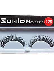 10 Pairs European Black Fiber  False Eyelashes SUL125